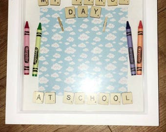 My First Day At School Boxed Frame.