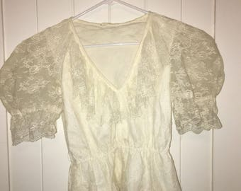 Lace Victorian-Style Top