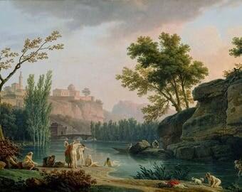Vintage Landscape (1773), Landscape print, Print on canvas, Fine Art Print, Wall Décor, Home décor, Office décor, Large Print, Gift