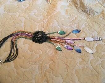 Semi precious gem stone necklace