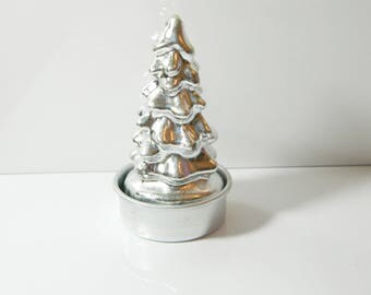 Silver tree candle