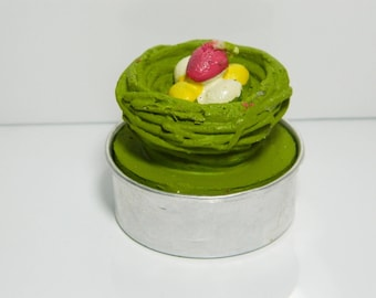 Green nest candle