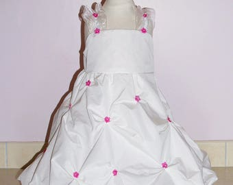 Navy pattern taffeta dress