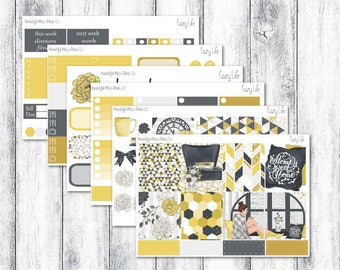 Cozy Life // Erin Condren Horizontal // Weekly Sticker Kit