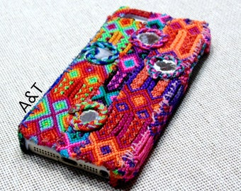 Embroidered Bohemian Handmade iPhone 4/4S  5/5S Case
