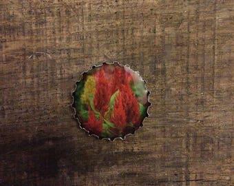 Celosia gift magnet