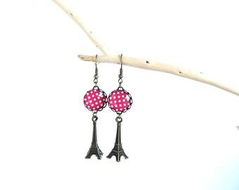 """Earrings """"p"""" small dots of Paris """""""