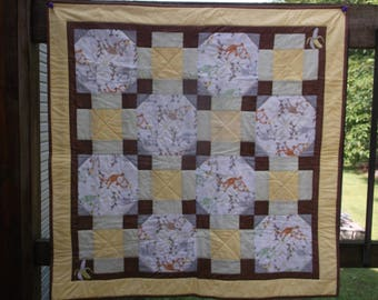 Monkeying Around- Baby quilt Free Shipping!