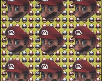 Mario Lime 9 Panel Blotter art