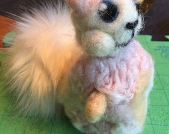 Glencoco the squirrel--Felted Plushie Toy