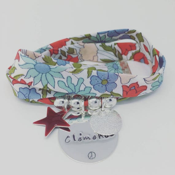 Personalized Bracelet GriGri XL Liberty with personalized engraving by Palilo