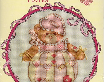 Cherished Teddies Roly Poly February Counted Cross Stitch Kit