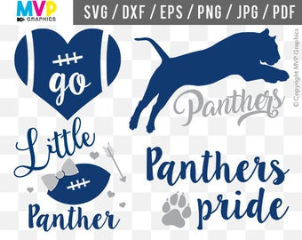 Panthers SVG, Go Panthers SVG, Panthers Pride SVG, Football Cut Files, Panthers Vector Files, Panthers Designs for Cutting Machines, mvp-27