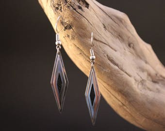 """Handcrafted and original earrings in Silver """"eben touch"""""""
