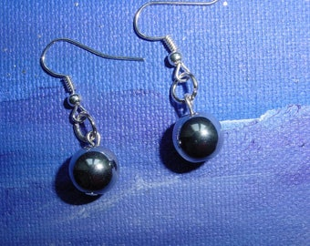 Chrome glass beads earrings