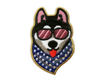 Dog Iron On Patch Puppy Embroidered Applique Patches For Jackets