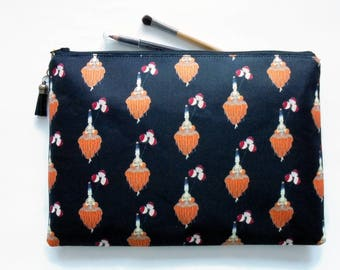 Gifts for her, Wash bag, Erte, art deco, 1920s, pocket bag, travel bag, cosmetic bag, zip bag, make up bag, cosmetic pouch.