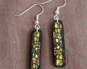 Earrings colorful tribute to Klimt