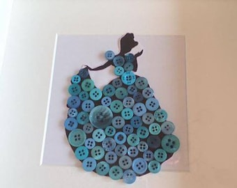 Princess Cinderella Button Frame