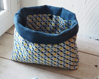Fabric basket and denim