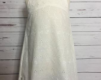 Cream eyelet shoulder tie dress. Size 3T. One of a kind.