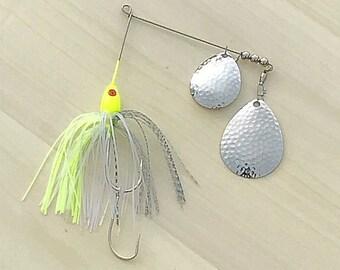 Shad Bait Fish Spinnerbait - 1/2 oz. (Yellow Head)