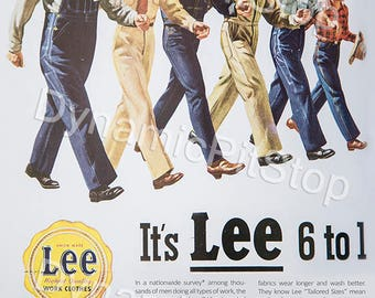 30x40cm LEE Workclothes Vintage Advert Tin Sign