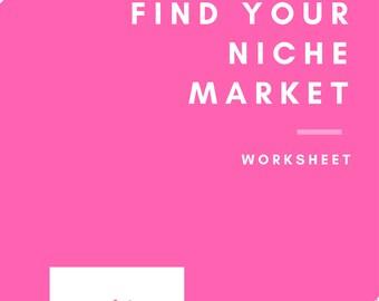 Find Your Niche Market Worksheet