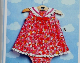 Baby Girl (size 3-6mth) Pink Macaroon Dress with Matching Diaper Cover