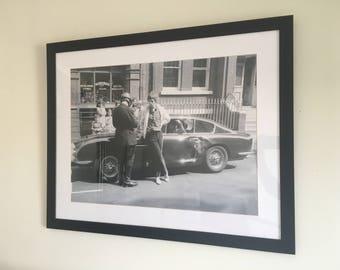 Framed Mick Jagger Poster - Aston Martin DB6