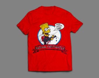 "Vintage Bootleg Bart ""Firefighter Bart"" Remake"