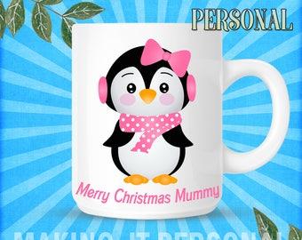Merry Christmas YOUR NAME Christmas Personalised Mug Sercret Santa Gift Idea