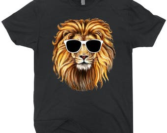Lion In Sunglasses Shirt Funny T-shirt For Animal Lovers