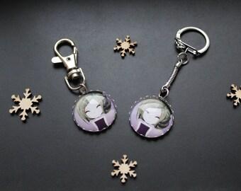 Porte Clé ou Bijoux de sac Manga Fillette violette