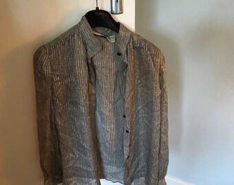 Vintage black and white blouse/shirt by Nina Ricci