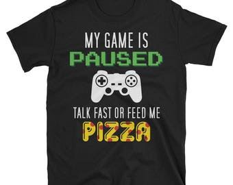 My Game Is Paused Nerdy gifts Nerdy shirt Geeky shirt gift for him Girl Gamer gift Gaming stats Geeky gift Geek squad