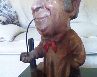 Vintage Pipe Tobacco  advertising figure.  Wills fine Shagg tobacco