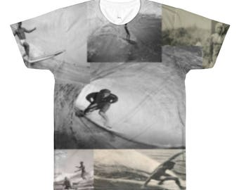 Vintage Surf All-Over Printed T-Shirt