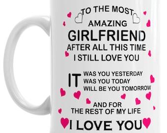 11oz Amazing Girlfriend I Love You Gift Valentines Relationship Mug Tea Office Coffee