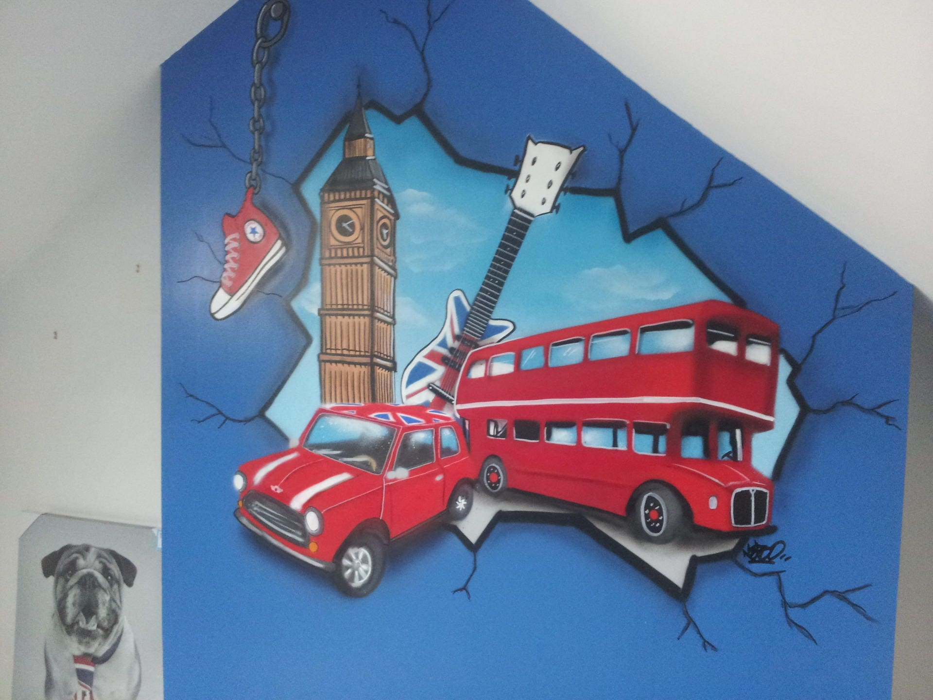 graffiti chambre d enfant tag prénom peinture murale graff