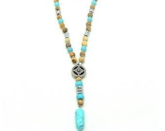 Boho necklace, Bohemian necklace, Bead necklace, Beaded necklace, Christmas gift, Boho jewelry gift, Holiday jewelry gift, Necklace for her