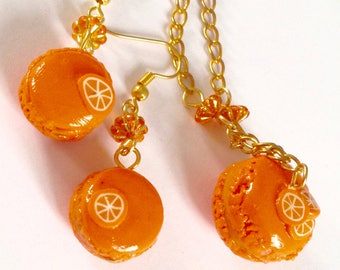 orange macaroon set