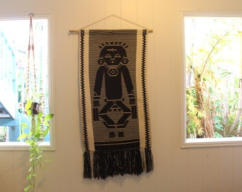 Vintage Woven Wall Hanging (Man)