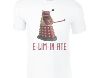 Kids Field Hockey T-Shirt, ELIMINATE, Doctor Who/Daleks/Field Hockey Fans! Fantastic Field Hockey Gifts For All The Family