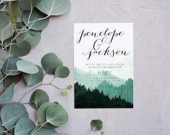 In The Woods Wedding Invitation | Simple Wedding Invitation