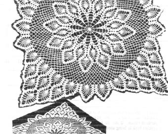 PDF Crochet Pattern, Pineapple Centrepiece,Motif, TV Cover,Large Square,Bedspread