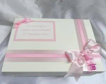 Baby keepsake box personalised. Christening gift box. New baby keepsake memory box