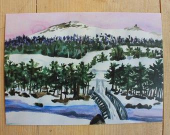 Postcard - 'Nordre Finstad bru'