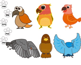 Eagle SVG Files, Bird Clipart,  cricut, cameo, silhouette cut files commercial & personal use