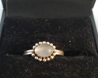 925 Silver Moonstone Ring. Size 6